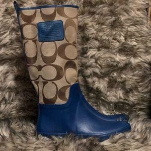 Woman's coach rain boots